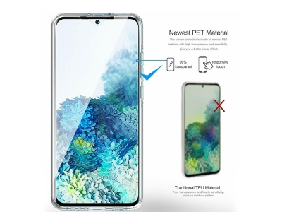 360 градуса Силиконов Калъф за Samsung Galaxy S20 Plus / S11, Прозрачен