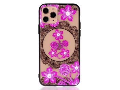 Удароустойчив гръб Lace Flower за Iphone 11 Pro, Лилави цветя
