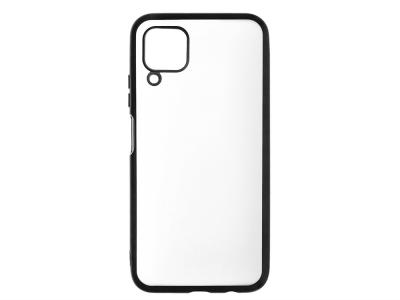 Силиконов гръб с лайстна Matte CLEAR за Huawei P40 Lite, Черен