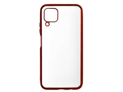 Силиконов гръб с лайстна Matte CLEAR за Huawei P40 Lite, Червен