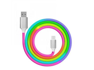 Кабел USB към Type C QC 3.0 Rainbow 1m, Дъга