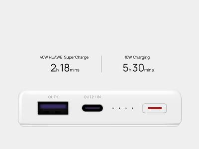 Универсална Външна Батерия Huawei SuperCharge Power Bank 12000Ah CP12s, Бял