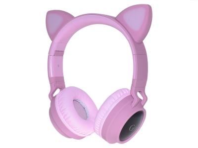 Слушалки с ушички CATEAR - Bluetooth CA-028, Розов