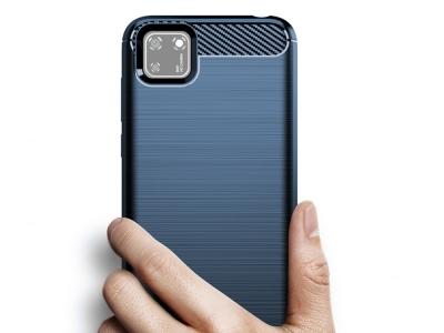 Силиконов гръб Carbon за Huawei Y5p, Син