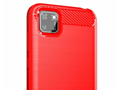 Силиконов гръб Carbon за Huawei Y5p, Червен