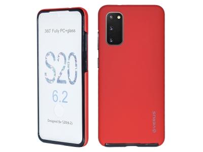 360 Градуса Калъф за Samsung Galaxy S20, Червен