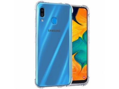 Силиконов Гръб Drop-resistant за Samsung Galaxy A40, Прозрачен