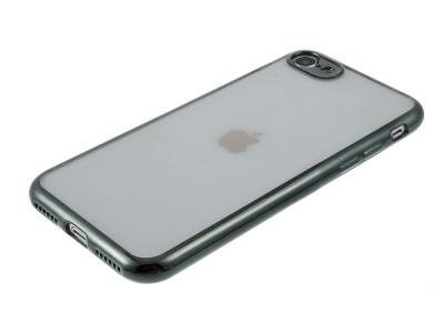 Силиконов гръб с лайстна CLEAR за iPhone 7 / 8 / SE 2020, Зелен