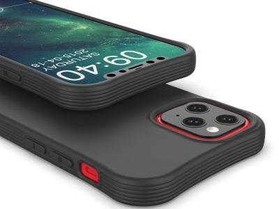 Силиконов гръб Matte за iPhone 12 Mini, Черен