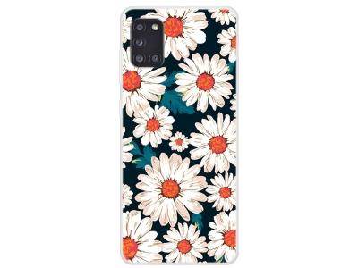 Силиконов гръб за Samsung Galaxy A31, Бели цветя