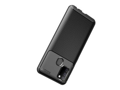 Силиконов гръб Beetle Carbon за Samsung Galaxy A21s, Черен