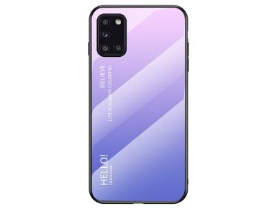 Стъклен гръб Glass за Samsung Galaxy A31, Розов-Лилав