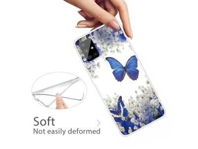 Силиконов Гръб за Samsung Galaxy A31, Цветя и пеперуди