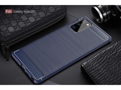 Силиконов гръб Carbon за Samsung Galaxy Note 20/Note 20 5G, Тъмно син