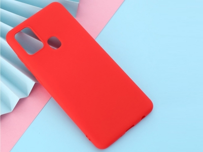 Силиконов Гръб Matte за Samsung Galaxy A21s, Червен