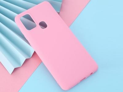 Силиконов Гръб Matte за Samsung Galaxy A21s, Розов