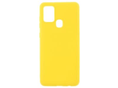 Силиконов Гръб Matte за Samsung Galaxy A21s, Жълт