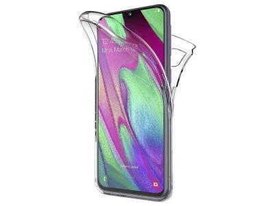 360 градуса силиконов калъф за Samsung Galaxy A40, Прозрачен
