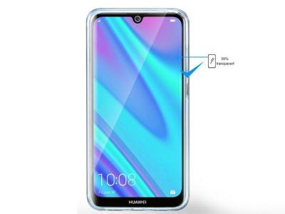 360 градуса силиконов калъф за Huawei P40 Lite E, Прозрачен