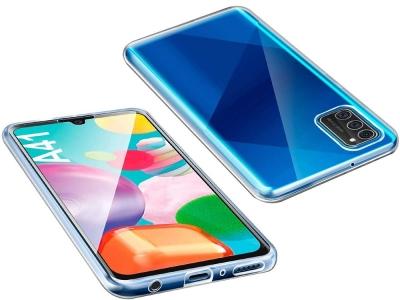 360 градуса силиконов калъф за Samsung Galaxy A41, Прозрачен