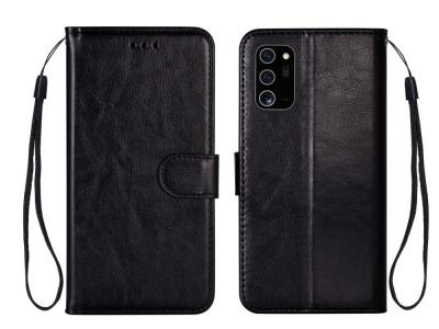 Калъф Тефтер Crazy Horse за Samsung Galaxy Note 20/Note 20 5G, Черен