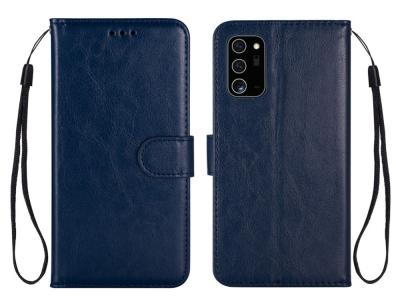 Калъф Тефтер Crazy Horse за Samsung Galaxy Note 20/Note 20 5G, Тъмно син