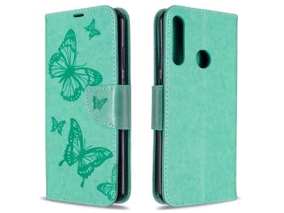 Калъф Тефтер Butterfly за Huawei Y6p, Зелен