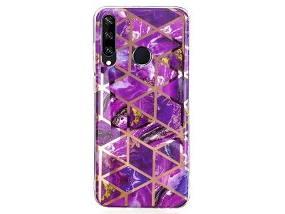 Силиконов Гръб Marble Skin за Huawei Y6p, Розов
