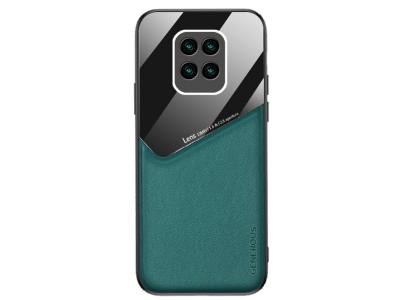 Удароустойчив Гръб Leather and Glass за Xiaomi Redmi 10X 4G, Зелен