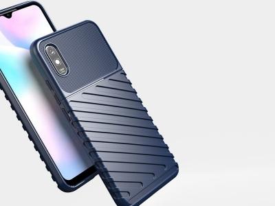 Силиконов гръб Twill Skin за Xiaomi Redmi 9A, Син