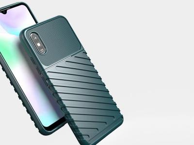 Силиконов гръб Twill Skin за Xiaomi Redmi 9A, Зелен