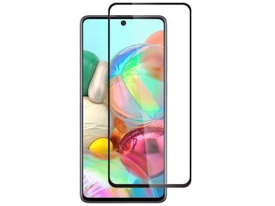 Стъклен Протектор Full Glue Hard Ceramic за Samsung Galaxy A71 / A81 / Note 10 Lite / S10 Lite, Черен