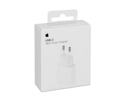 Оригинално Зарядно Iphone MU7V2ZM/A USB-C 18 W Travel Charger, Бял