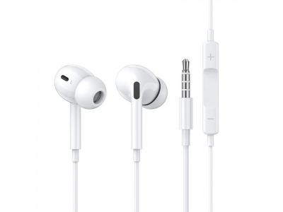 Слушалки с микрофон JH-082 3.5 mm, Бял