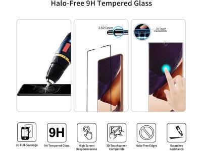 Стъклен Протектор Full Glue 5D за Samsung Galaxy Note 20, Черен
