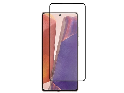 Стъклен протектор 5D Full Glue 0.18 mm за Samsung Galaxy Note 20 , Черен