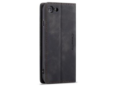 Калъф Тефтер CASEME за iPhone 7/ iPhone 8 / iPhone SE 2020, Черен