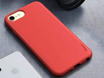 Силиконов калъф IPAKY Matte за iPhone 7 / 8 / SE (2020), Червен