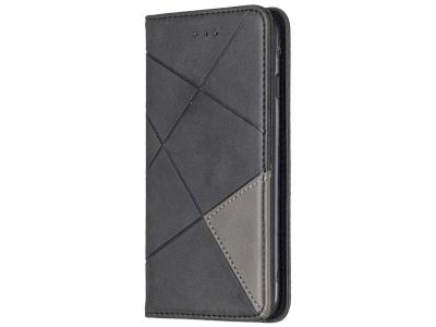 Калъф Тефтер Leather Prismatic за Iphone 7/8/SE (2020), Черен