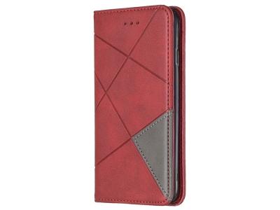 Калъф Тефтер Leather Prismatic за Iphone 7/8/SE (2020), Червен