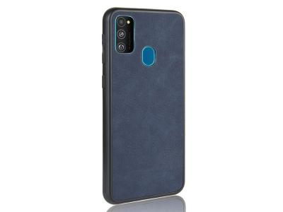 Удароустойчив гръб Leather Coated за Samsung Galaxy M21 / M30s, Син