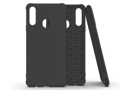 Силиконов Гръб Matte за Samsung Galaxy A20s, Черен
