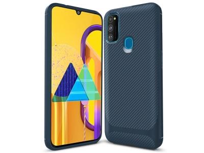 Силиконов калъф Drop-resistant за Samsung Galaxy M21/M30s, Син