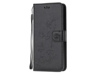 Калъф Тефтер Butterfly Flower за Samsung Galaxy M21/M30s, Черен