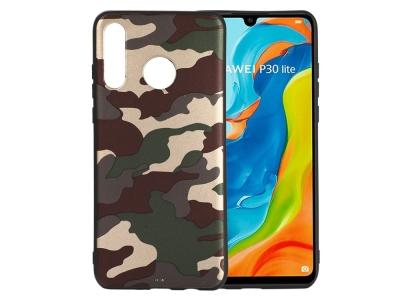 Силиконов калъф Camouflage за Huawei P30 Lite / nova 4e, Зелен камуфлаж