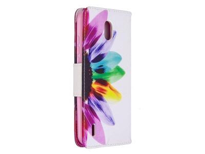 Калъф Тефтер за Nokia 1.3, Цвете