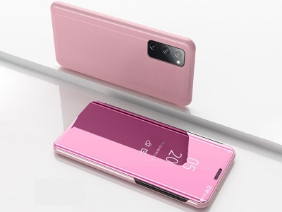 Калъф Тефтер View Window Mirror за Samsung Galaxy S20 FE/S20 Fan Edition/S20 FE 5G/S20 Fan Edition 5G/S20 Lite, Розов