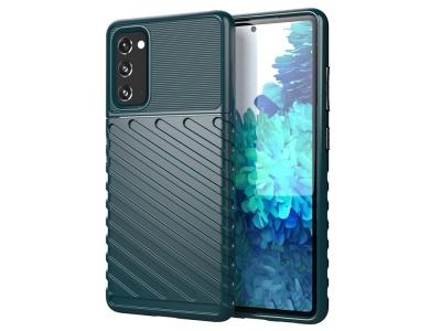 Силиконов калъф Twill Skin за Samsung Galaxy S20 FE 5G/Fan Edition 5G, Зелен