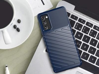 Силиконов калъф Twill Skin за Samsung Galaxy S20 FE 5G/Fan Edition 5G, Син