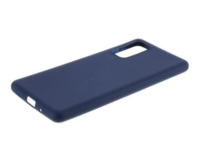 Силиконов калъф Matte за Samsung Galaxy S20 FE/S20 Fan Edition/S20 FE 5G/S20 Fan Edition 5G, Тъмно син